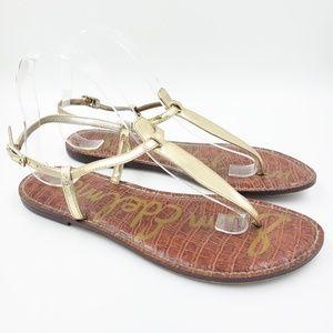 Sam Edelman Metallic Gigi T-Strap Thong Sandals